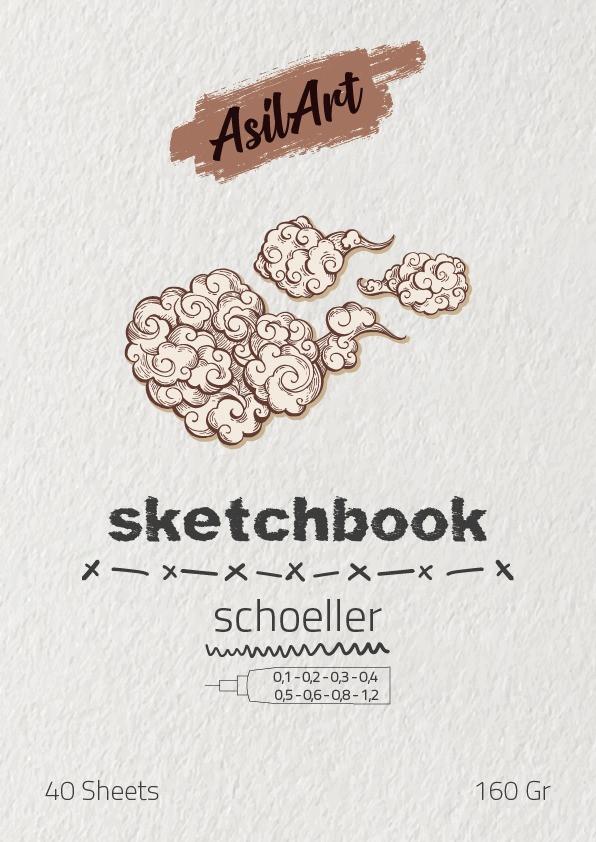 ASİLART SKETCHBOOK(ESKİZ DEFTER) -SCHOELLER- 40YAPRAK - 160GR-A4