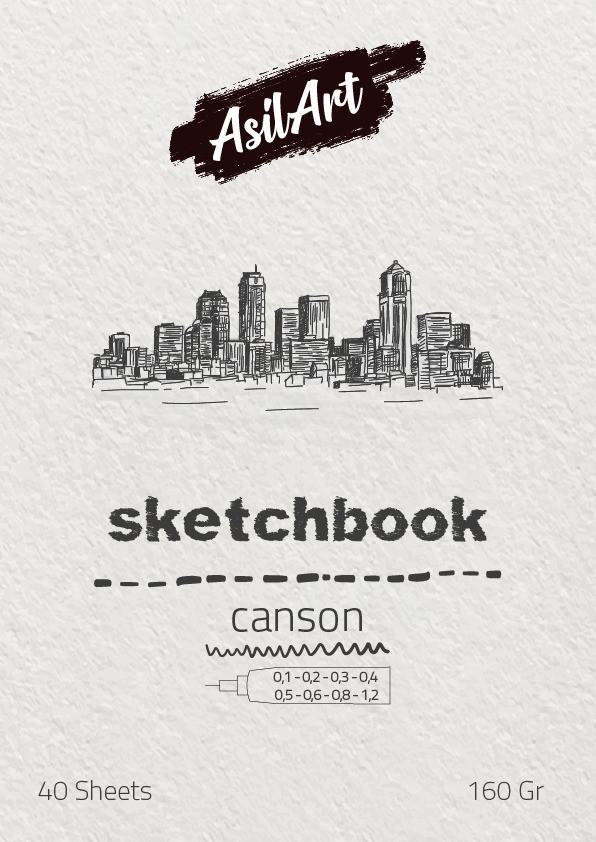 ASİLART SKETCHBOOK(ESKİZ DEFTER) -CANSON - 40YAPRAK - 160GR-A5