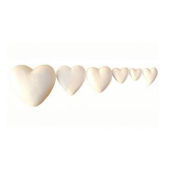 Köpük Kalp 10 cm - 8'li