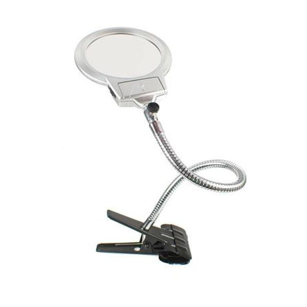 Spiralli-Saplı-Büyüteç - Led Işıklı Klipsli - 130 mm